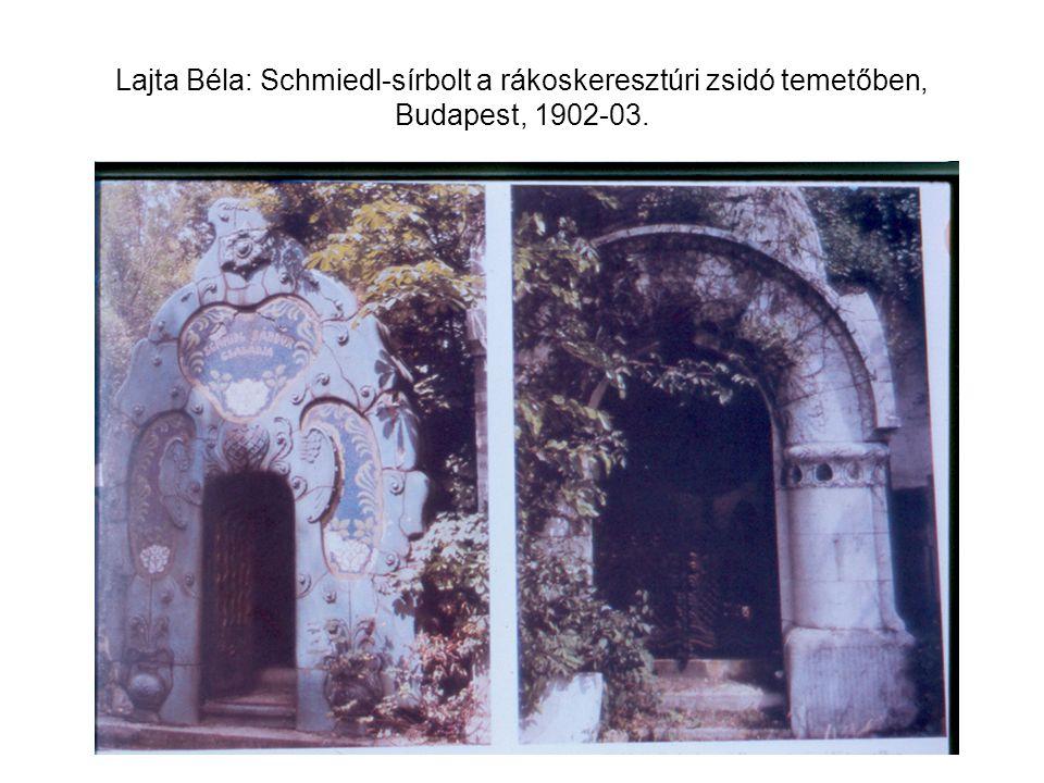 Lajta Béla: Schmiedl-sírbolt a rákoskeresztúri zsidó temetőben, Budapest, 1902-03.