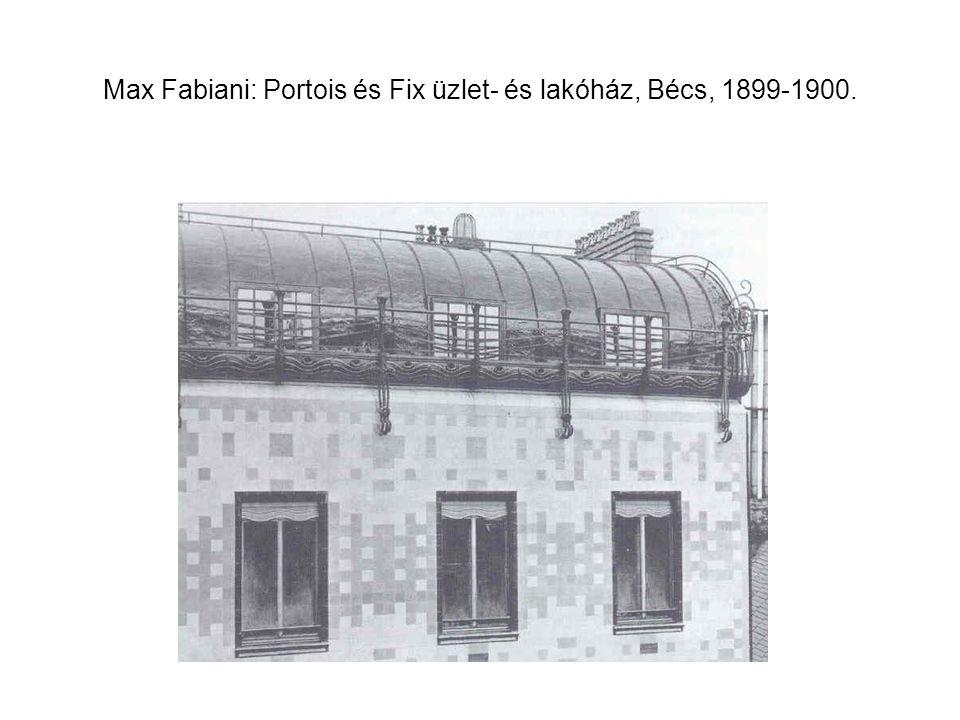 Rudolf Nemec és Bedrich Bendelmayer: Weinhengst-ház, Hradec Králové, 1898.