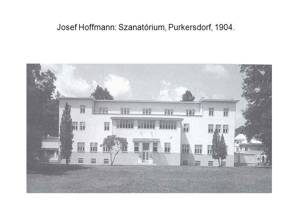 Josef Hoffmann: Szanatórium, Purkersdorf, 1904.