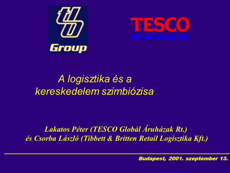 Budapest, 2001.Szeptember 13. Az angliai Tesco alapítója 1919-ben Jack Cohen volt.