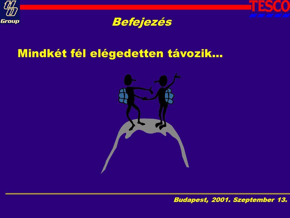 Budapest, 2001. Szeptember 13. Befejezés Mindkét fél elégedetten távozik...