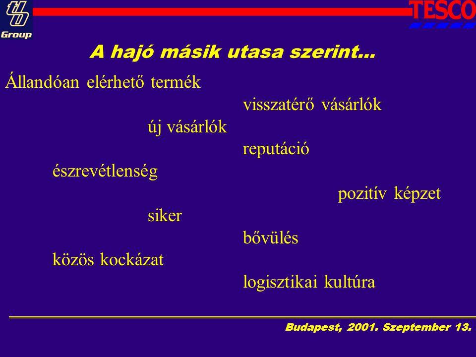 Budapest, 2001.Szeptember 13. A hajó másik utasa szerint...