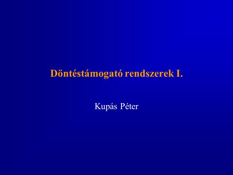 Döntéstámogató rendszerek I. Kupás Péter