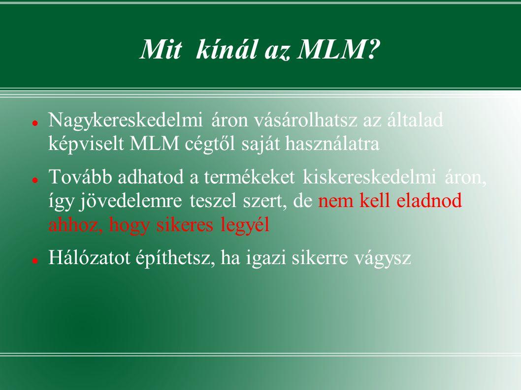 Mit kínál az MLM.