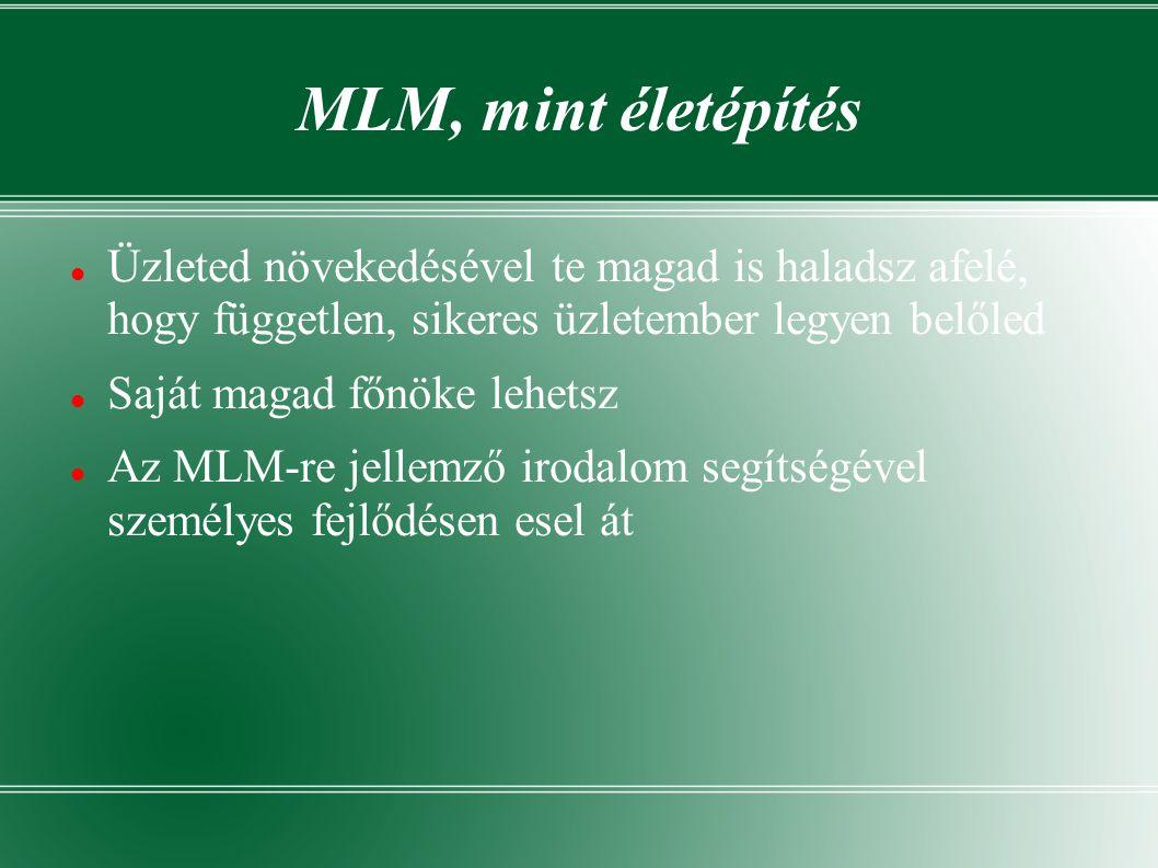 Zárszó helyett... Tehát mi is az MLM.