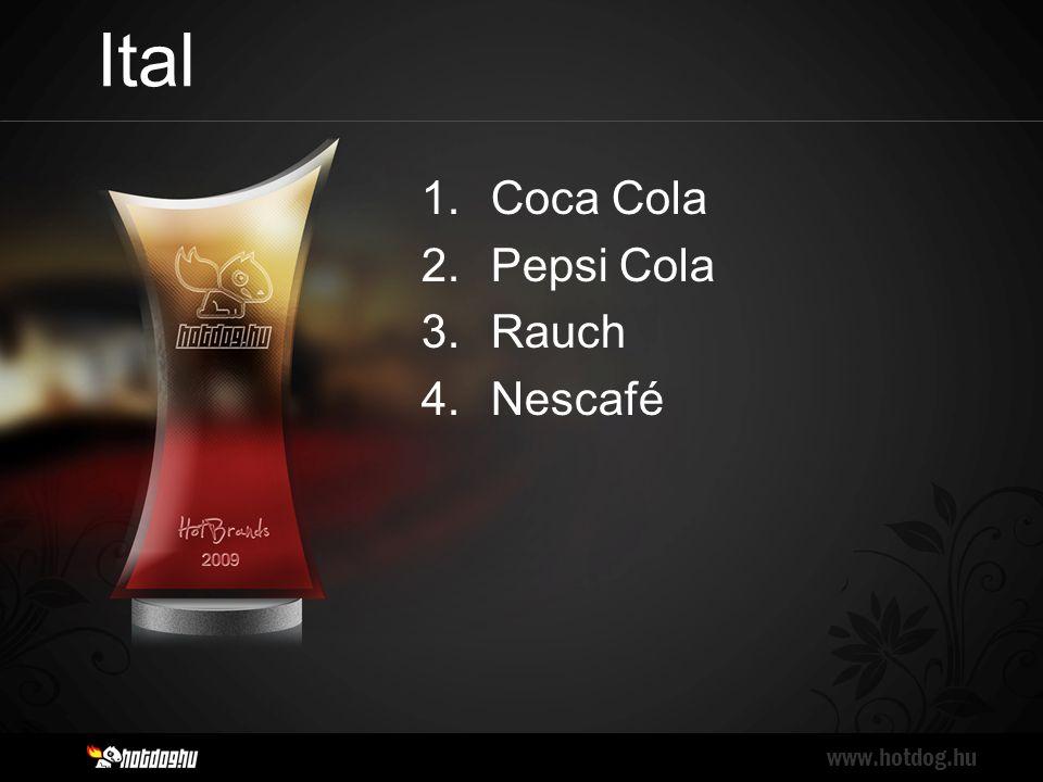 Ital www.hotdog.hu 1.Coca Cola 2.Pepsi Cola 3.Rauch 4.Nescafé