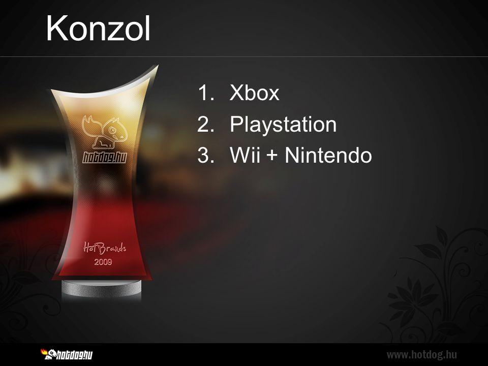 Konzol www.hotdog.hu 1.Xbox 2.Playstation 3.Wii + Nintendo