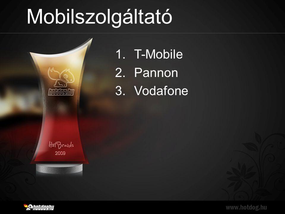 Mobilszolgáltató www.hotdog.hu 1.T-Mobile 2.Pannon 3.Vodafone