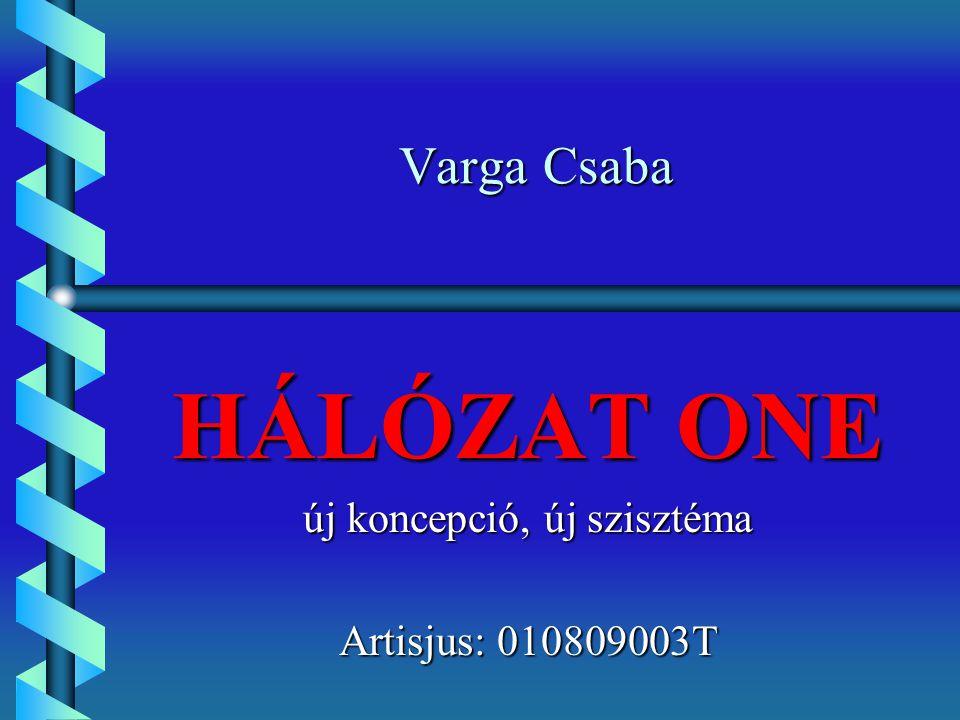 Varga Csaba HÁLÓZAT ONE új koncepció, új szisztéma Artisjus: 010809003T