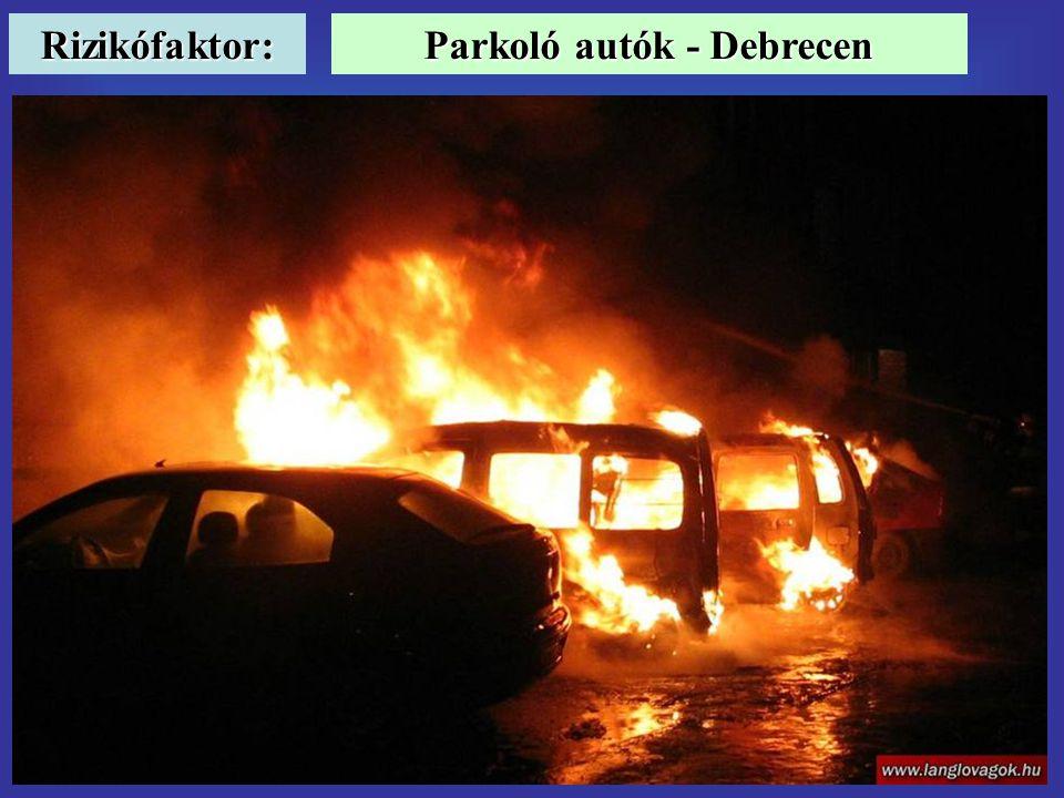 Rizikófaktor: Parkoló autók - Debrecen