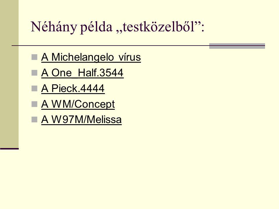 Név:Mit fertőz.Gyorsaság.Leírás:(MR*) AIDS Test*.COM és *.EXE, közepes MR.