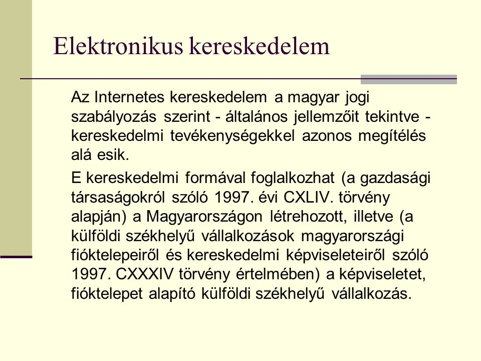 E-kereskedelem ábrája: