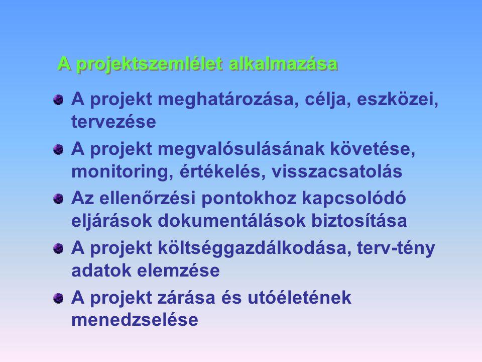 Az informatika vállalati alkalmazásának legfontosabb tényezői 1. Informatikai folyamatok definiálása, kialakítása 2. Az IT szervezet kialakítása (felé