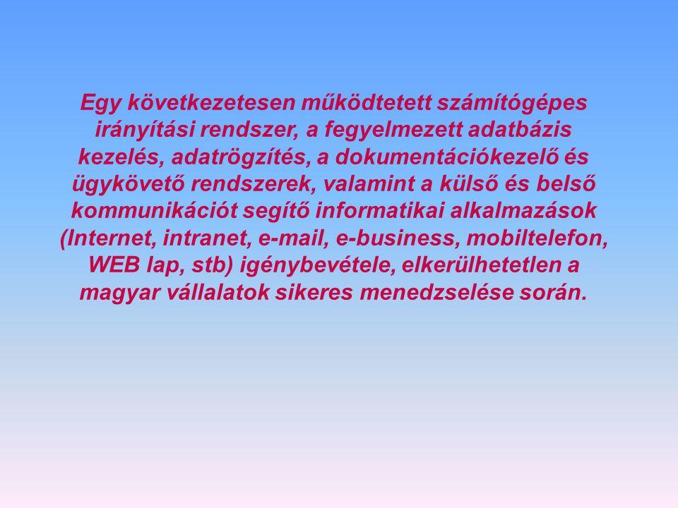 Az SAP Business One a következő üzleti előnyöket kínálja:  Fokozott termelékenység - A könnyen érthető felhasználói felület segítségével gyors és hat