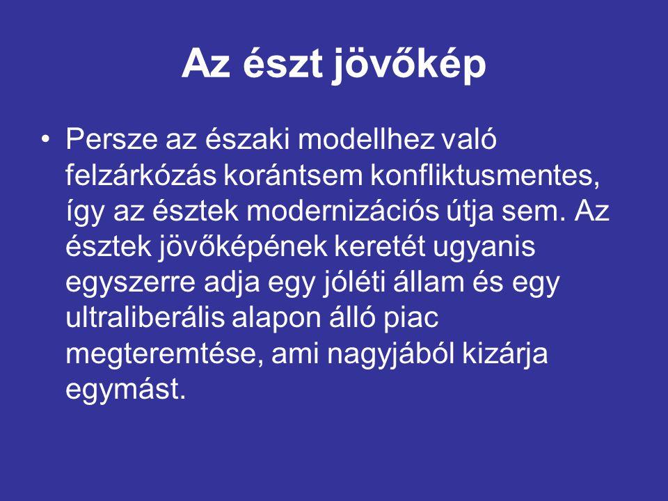Az észt jövőkép •Persze az északi modellhez való felzárkózás korántsem konfliktusmentes, így az észtek modernizációs útja sem.