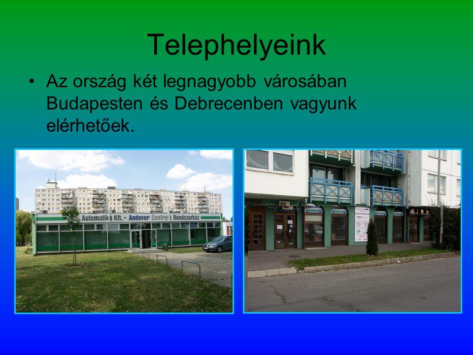 Telephelyeink •Az ország két legnagyobb városában Budapesten és Debrecenben vagyunk elérhetőek.