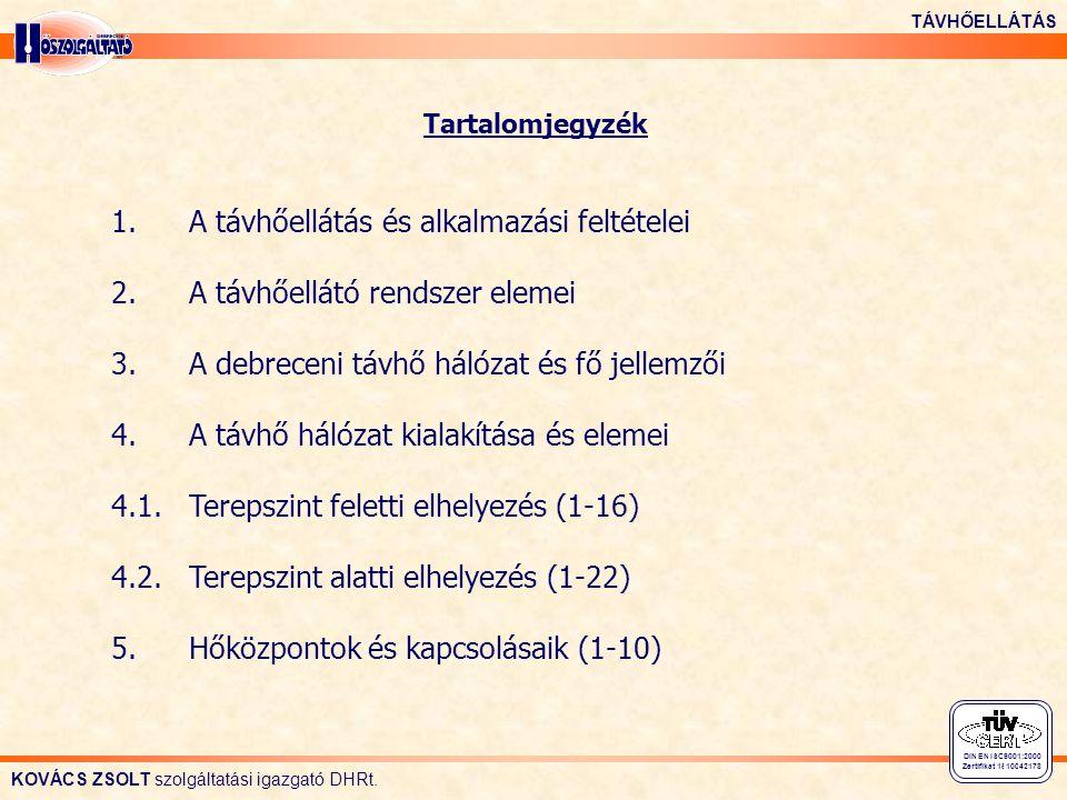KOVÁCS ZSOLT szolgáltatási igazgató DHRt.TÁVHŐELLÁTÁS 1.