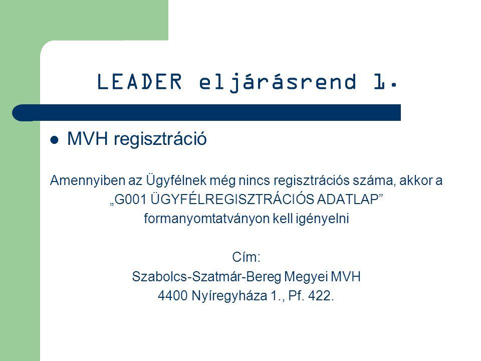 LEADER eljárásrend 1.