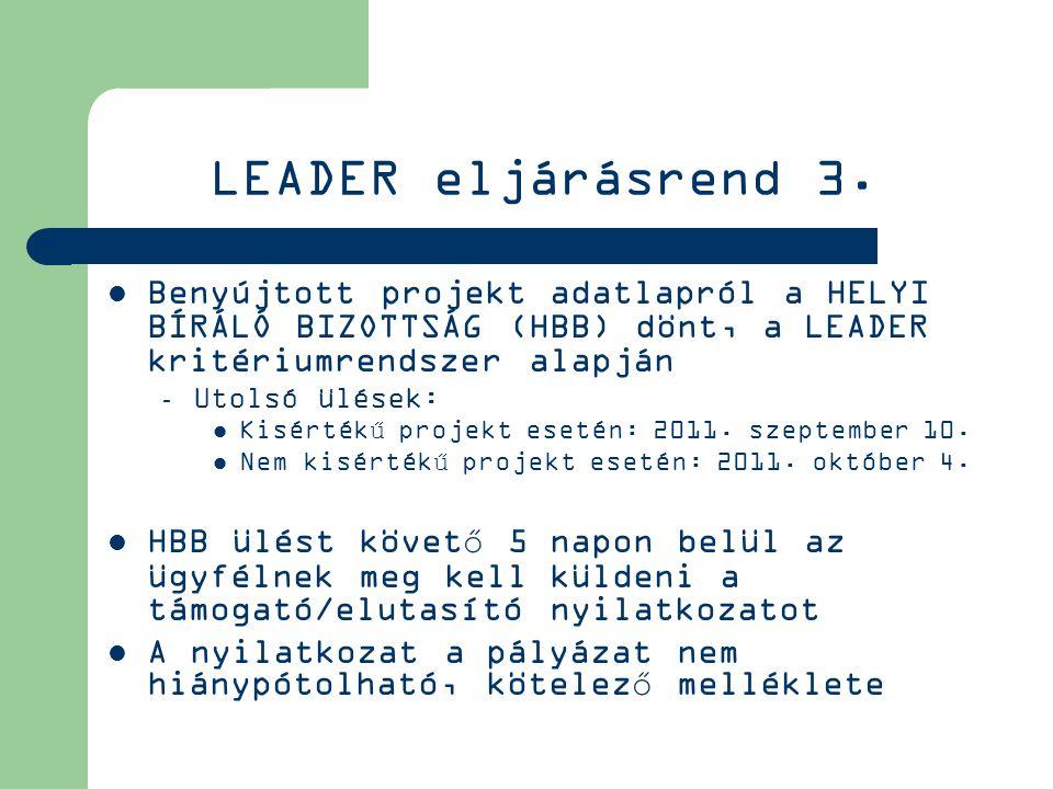 LEADER eljárásrend 3.