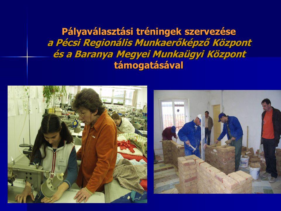 Pályaválasztási tréningek szervezése a Pécsi Regionális Munkaerőképző Központ és a Baranya Megyei Munkaügyi Központ támogatásával