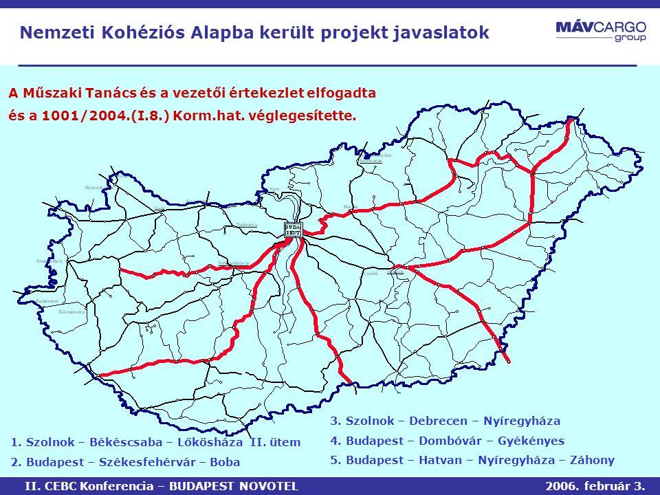 A Műszaki Tanács és a vezetői értekezlet elfogadta és a 1001/2004.(I.8.) Korm.hat.
