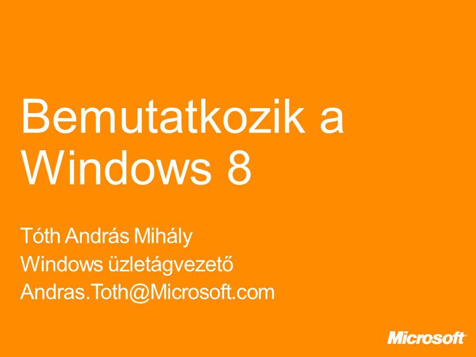 Próbatelepítés Alkalmazások kipróbálása Lehetőségek megismerése Képzés Tesztlaborban próbaüzem PC-parkkal mi legyen Új gépek október végétől Windows 8-cal előtelepítve Meglévő gépek: Windows 7-ről egyszerű átállás XP terméktámogatása 2014.