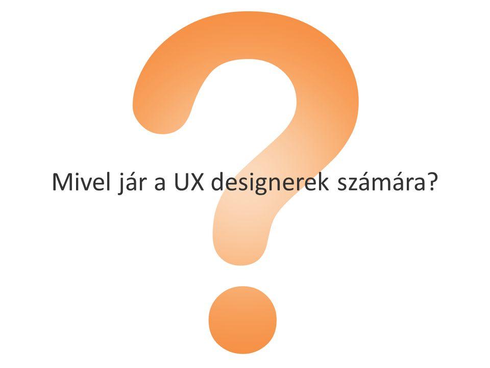Mivel jár a UX designerek számára