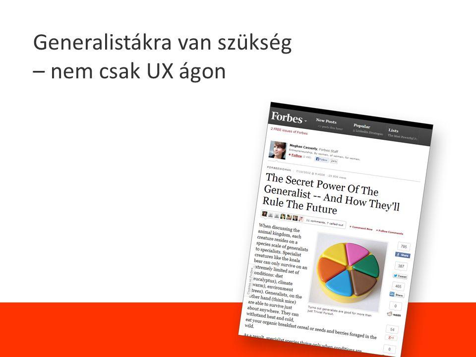 Generalistákra van szükség – nem csak UX ágon