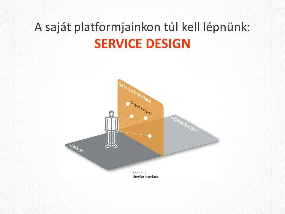 A saját platformjainkon túl kell lépnünk: SERVICE DESIGN