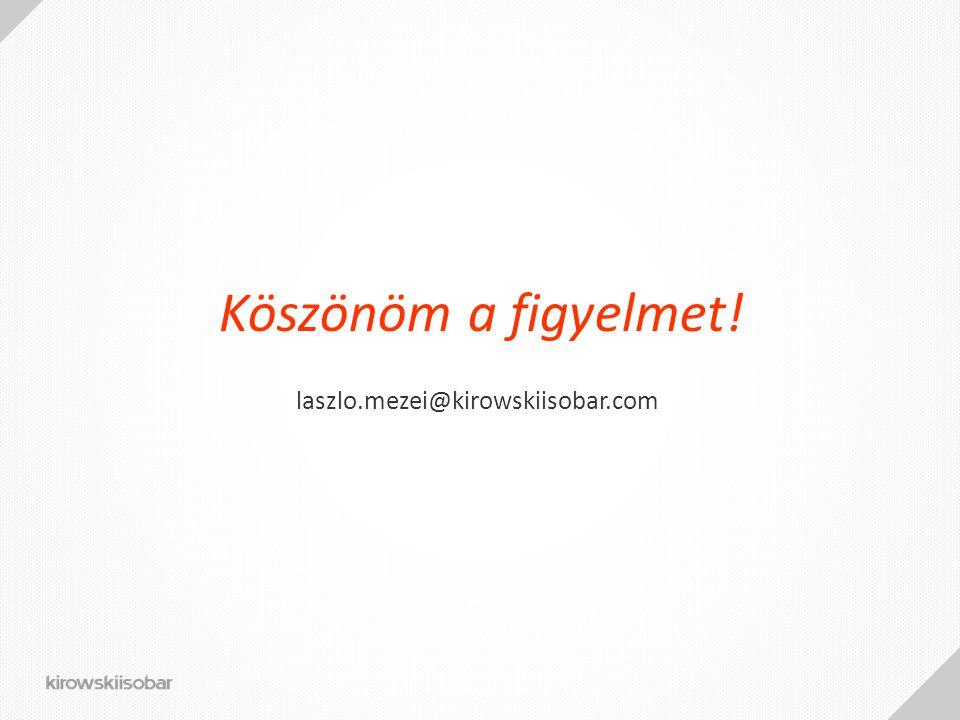 Köszönöm a figyelmet! laszlo.mezei@kirowskiisobar.com