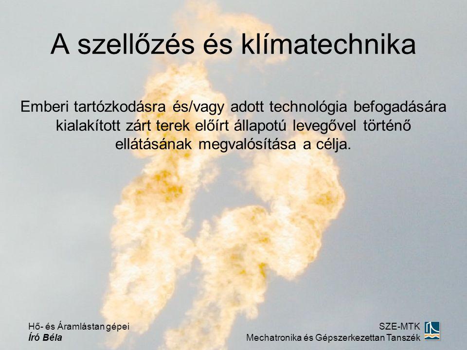Emberi tartózkodásra és/vagy adott technológia befogadására kialakított zárt terek előírt állapotú levegővel történő ellátásának megvalósítása a célja.