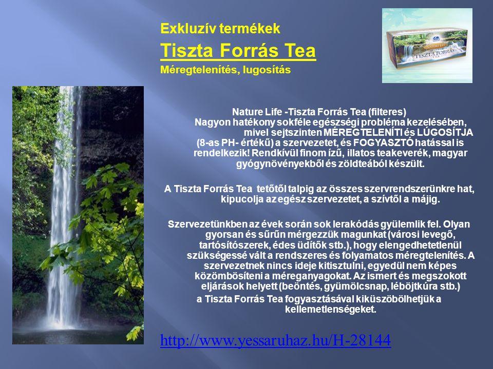 Exkluzív termékek Tiszta Forrás Tea Méregtelenítés, lugosítás Nature Life -Tiszta Forrás Tea (filteres) Nagyon hatékony sokféle egészségi probléma kez