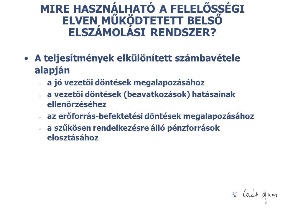 © MIRE HASZNÁLHATÓ A FELELŐSSÉGI ELVEN MŰKÖDTETETT BELSŐ ELSZÁMOLÁSI RENDSZER.