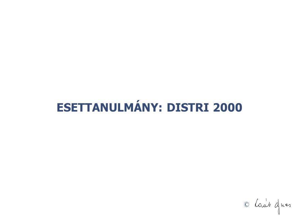 © ESETTANULMÁNY: DISTRI 2000