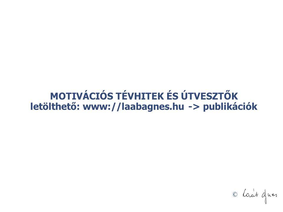 © MOTIVÁCIÓS TÉVHITEK ÉS ÚTVESZTŐK letölthető: www://laabagnes.hu -> publikációk