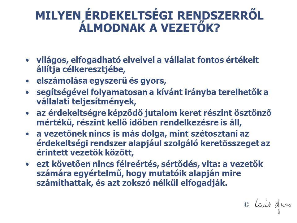 © MILYEN ÉRDEKELTSÉGI RENDSZERRŐL ÁLMODNAK A VEZETŐK.