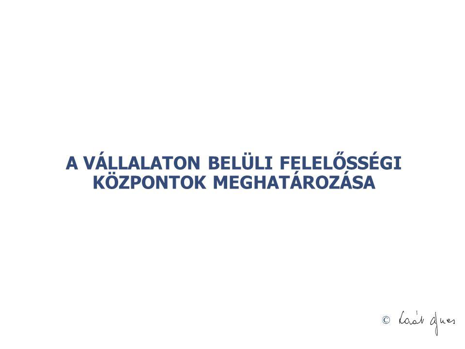 © A VÁLLALATON BELÜLI FELELŐSSÉGI KÖZPONTOK MEGHATÁROZÁSA