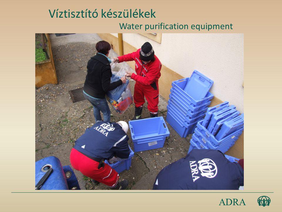 ADRA Víztisztító készülékek Water purification equipment