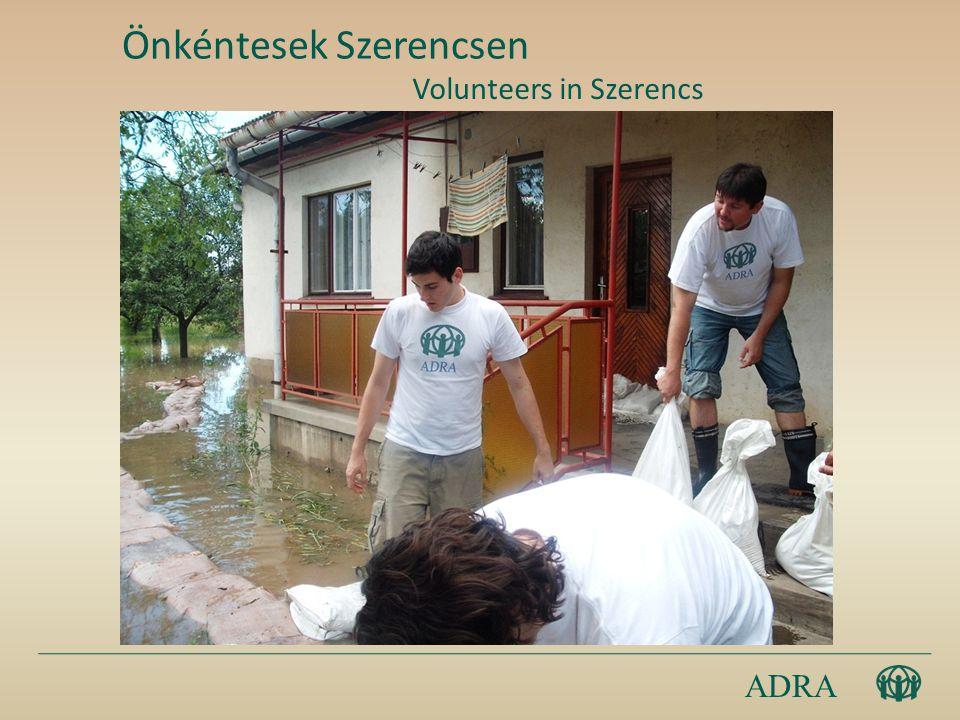 ADRA Önkéntesek Szerencsen Volunteers in Szerencs