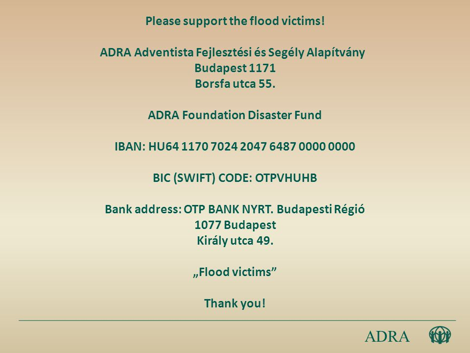 Please support the flood victims.