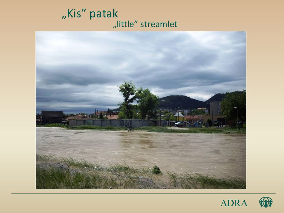 "ADRA ""Kis patak ""little streamlet"