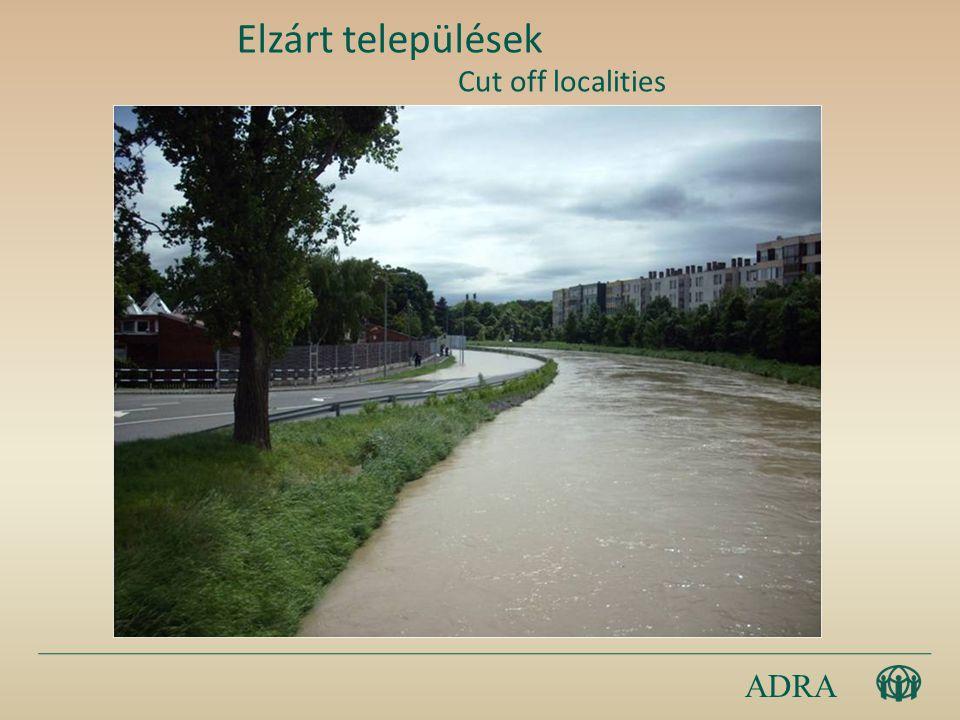 ADRA Elzárt települések Cut off localities