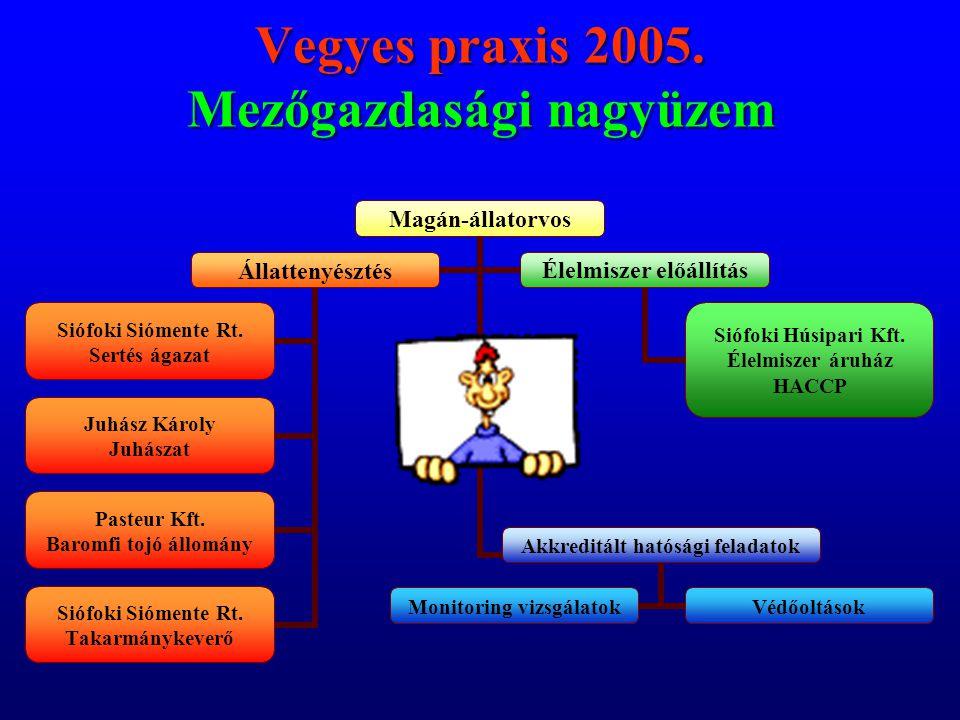 Vegyes praxis 2005. Mezőgazdasági nagyüzem