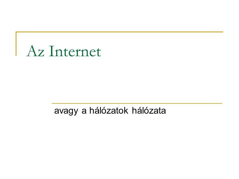 Az Internet avagy a hálózatok hálózata