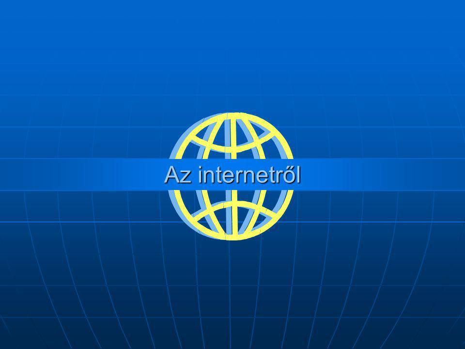 Tartalom  Az internet alapelvei Az internet alapelvei Az internet alapelvei  Az internet rövid története Az internet rövid története Az internet rövid története  Az internet működése Az internet működése Az internet működése  Csomópontok azonosítása – IP cím Csomópontok azonosítása – IP cím Csomópontok azonosítása – IP cím  Csomópontok azonosítása – domain név Csomópontok azonosítása – domain név Csomópontok azonosítása – domain név  Domain nevek hierarchiája Domain nevek hierarchiája Domain nevek hierarchiája  Az internet legfontosabb szolgáltatásai Az internet legfontosabb szolgáltatásai Az internet legfontosabb szolgáltatásai  FTP FTP  FTP kapcsolat létrehozása Total Commanderrel FTP kapcsolat létrehozása Total Commanderrel FTP kapcsolat létrehozása Total Commanderrel  Telnet Telnet  WWW – böngészés WWW – böngészés WWW – böngészés  A HTML dokumentumok A HTML dokumentumok A HTML dokumentumok  Weboldalak címzése – URL Weboldalak címzése – URL Weboldalak címzése – URL  Levelezés – email Levelezés – email Levelezés – email  Levelezőrendszerek Levelezőrendszerek  Az elektronikus levél felépítése Az elektronikus levél felépítése Az elektronikus levél felépítése  Levelezőprogramok szolgáltatásai Levelezőprogramok szolgáltatásai Levelezőprogramok szolgáltatásai  IRC IRC  Messenger programok Messenger programok Messenger programok  Levelezőlisták, hírcsoportok Levelezőlisták, hírcsoportok Levelezőlisták, hírcsoportok  Keresés, tájékozódás az interneten Keresés, tájékozódás az interneten Keresés, tájékozódás az interneten  Internetes keresők Internetes keresők Internetes keresők  Portálok, linkgyűjtemények Portálok, linkgyűjtemények Portálok, linkgyűjtemények  Az internet elérési lehetőségei Az internet elérési lehetőségei Az internet elérési lehetőségei  Néhány internetes protokoll Néhány internetes protokoll Néhány internetes protokoll  Források - egyben ajánlott címek Források - egyben ajánlott címek Források - egyben ajánlott címek