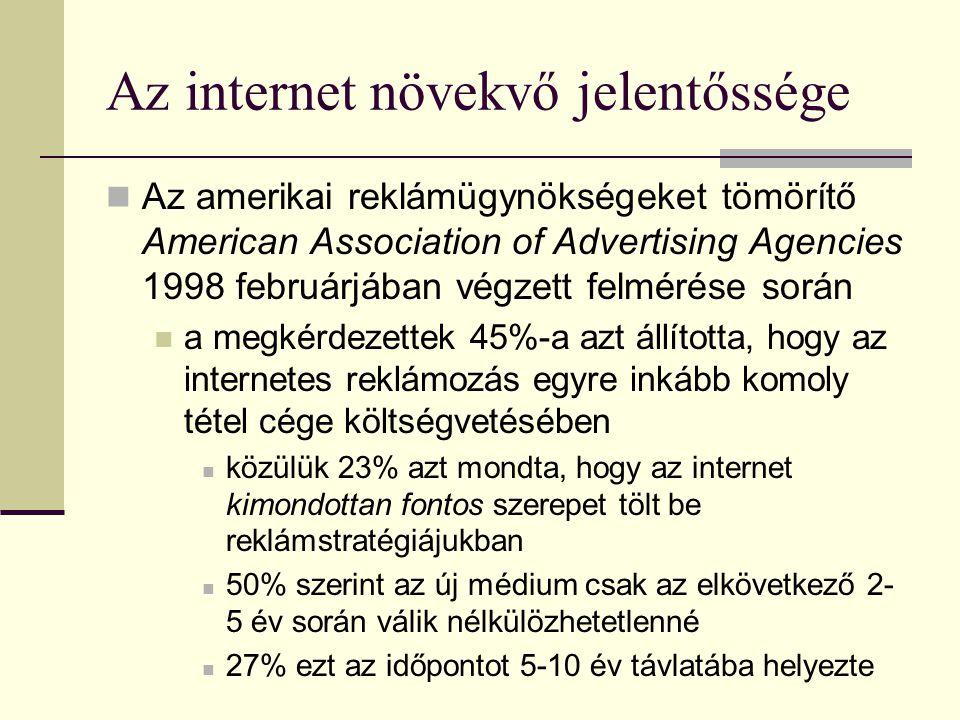A vevők: online reklámügynökségek  A hirdetők és a webhelyek gyakran online reklámügynökségeken keresztül lépnek kapcsolatba egymással  1998-ban a Procter & Gamble reklámigazgatója azt jósolta, hogy tíz év múlva mindössze kétféle ügynökség létezik majd  Az elektronikus  A kipusztulásra ítélt  A ma működő elektronikus reklámügynökségek honlapfejlesztőkből, direkt marketing cégekből és hagyományos reklámügynökségekből nőttek ki