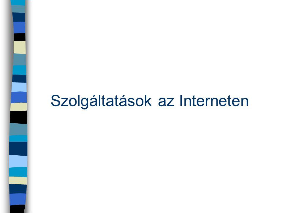 Szolgáltatások az Interneten