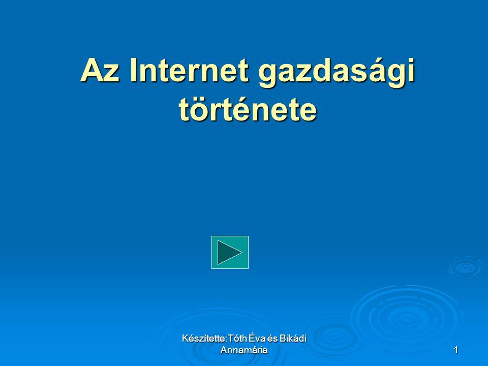 Készítette:Tóth Éva és Bikádi Annamária32   A hozzáférést ma már több, az Internet elérhetőségre szakosodott szolgáltató biztosítja Magyarországon is.