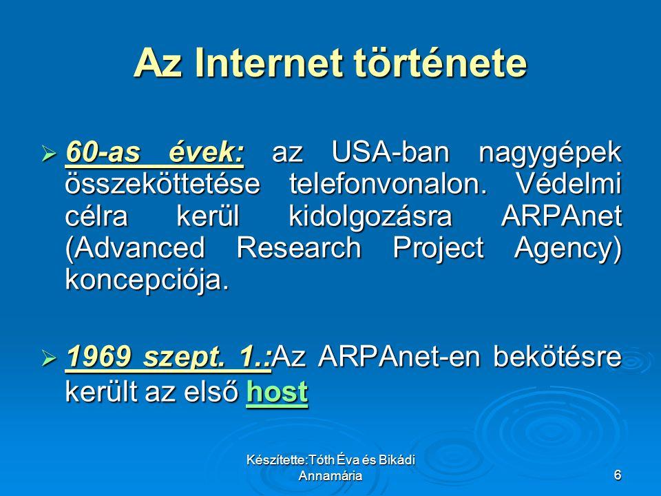 Készítette:Tóth Éva és Bikádi Annamária77 Felhasznált irodalom:  Eszes István- Bányai Edit: Online marketing  www.gkienet.hu www.gkienet.hu  hu.wikipedia.org hu.wikipedia.org  hu.ecdlweb.org hu.ecdlweb.org  hvg.hu hvg.hu  index.hu index.hu  ebookz.hu ebookz.hu