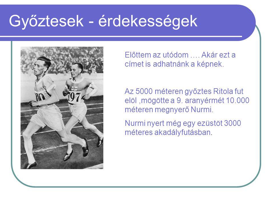 Magyar győztesek Gyarmati Olga 1924 - Több számmal próbálkozott pályafutása során,de végül megmaradt a távolugrásnál.Szerencsére,mert Londonban 569,5 cm-es eresmányével olimpiai aranyat nyert.